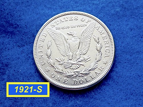 "1921-S Morgan Silver Dollar ☆ ""XF-45"" ☆  (#5411)"