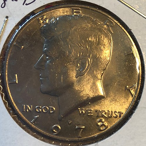 1978 D Kennedy Half Dollars