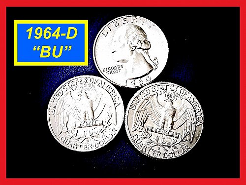 "1964-D Washington Quarter  ☆  ""Brilliant Uncirculated""  ☆  (#2894.a)a"