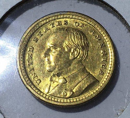 1903 Louisiana Purchase Expo  McKinley GOLD $1