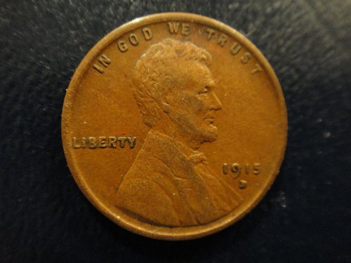 1915-D Lincoln Cent Extra Fine-45 Nice Sharp Strike Esp On Wheat Lines!