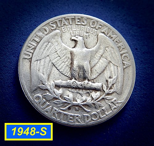 "1948-S Quarter ☆  ""Circulated"" ☆ (#2058)b"