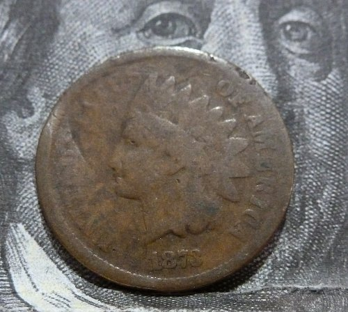 1873 Open 3 Indian Cent Good (#19049)
