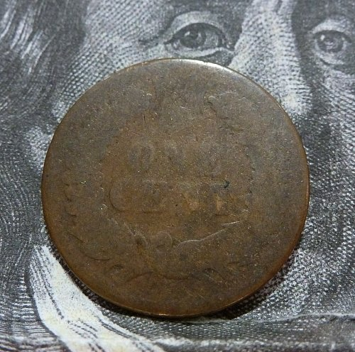 1874 AG Indian Cent About Good (#19050)