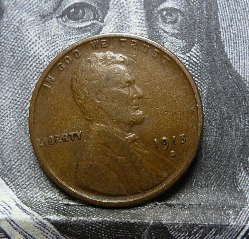 1915 S  Very Fine Lincoln Wheat Cent VF ( # 19011)
