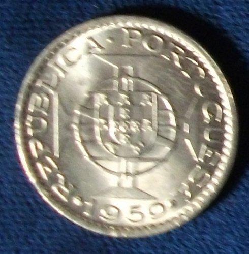 1959 Portuguese India 60 Centavos UNC