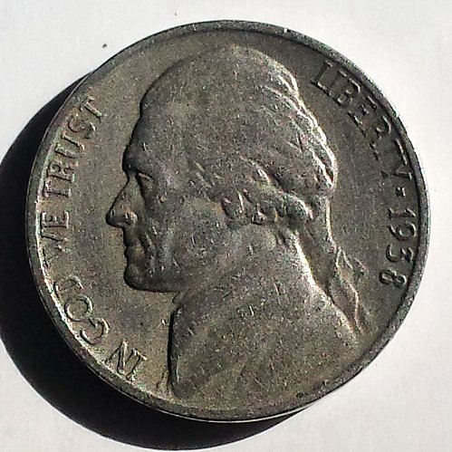 1938-P Jefferson Nickel: VF
