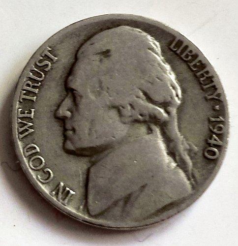 1940 D Jefferson Nickel