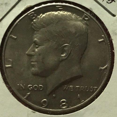 1981 D Kennedy Half Dollars