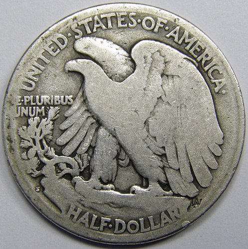 1918 S Walking Liberty Half Dollar #2