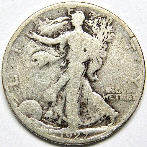 1927 S Walking Liberty Half Dollar #3