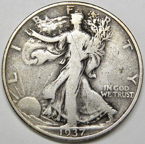 1937 P Walking Liberty Half Dollar #4