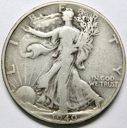 1940 P Walking Liberty Half Dollar #3