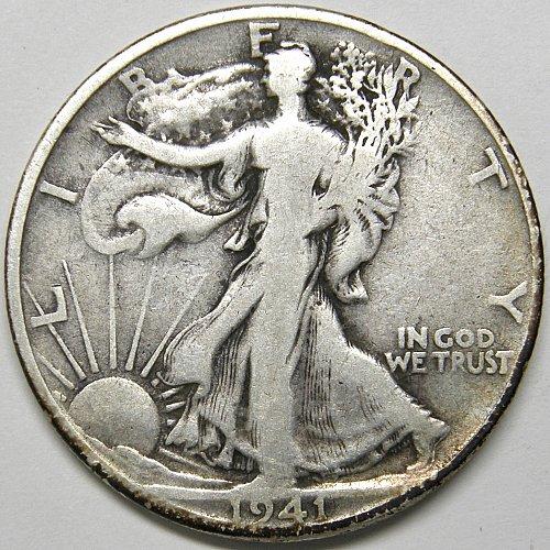 1941 S Walking Liberty Half Dollar #4