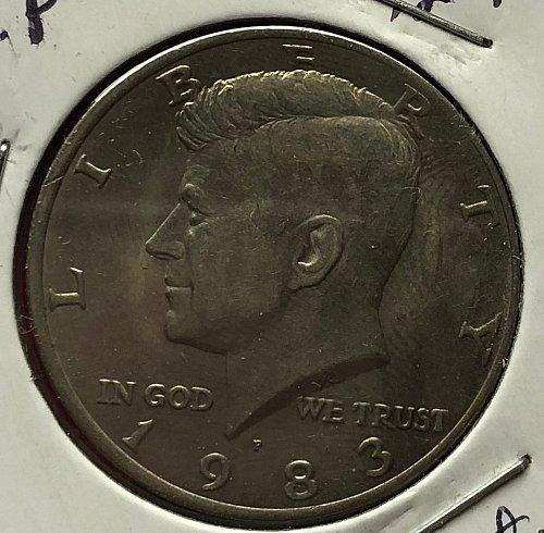 1983 P Kennedy Half Dollars
