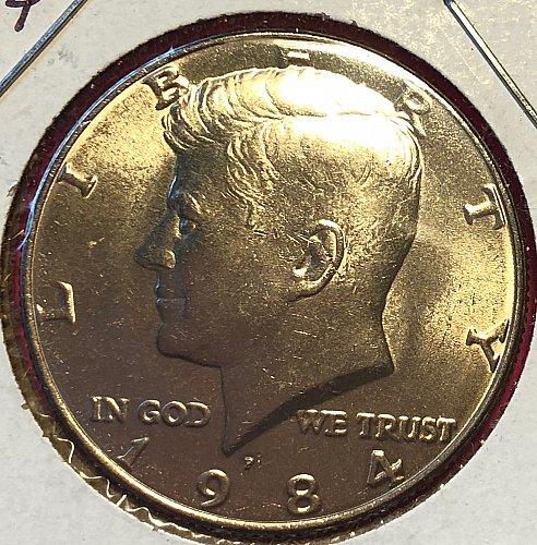 1984 P Kennedy Half Dollars