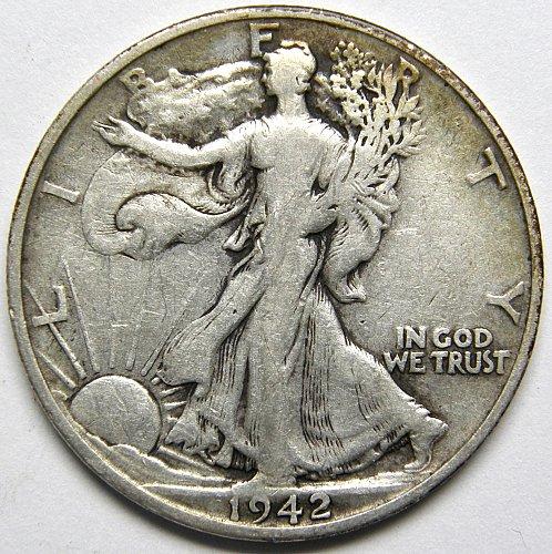 1942 S Walking Liberty Half Dollar #3