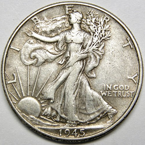 1945 P Walking Liberty Half Dollar #5