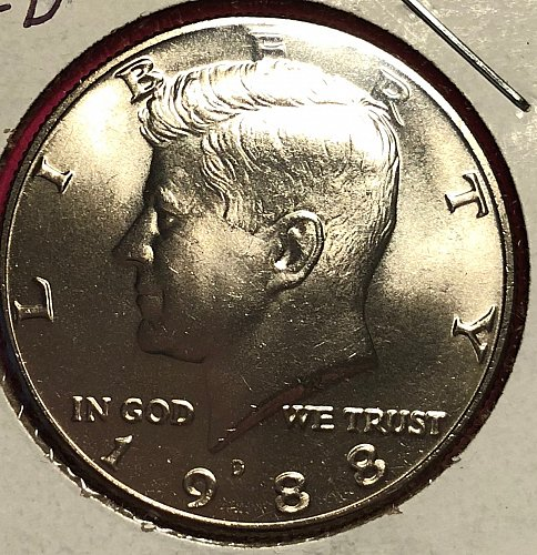1988 D Kennedy Half Dollars