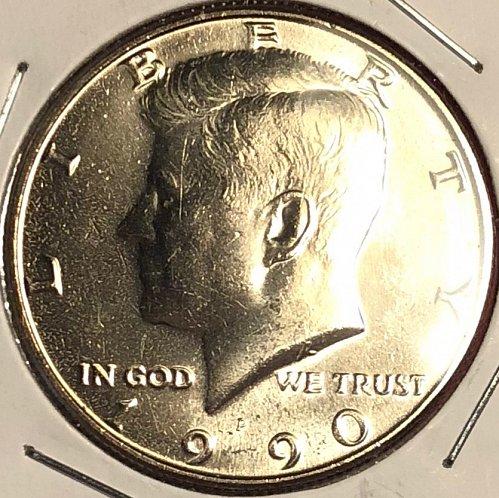 1990 P Kennedy Half Dollars