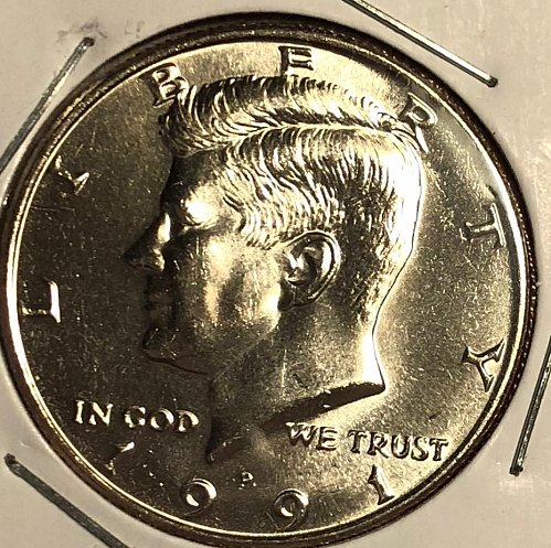 1991 P Kennedy Half Dollars