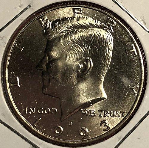 1993 D Kennedy Half Dollars