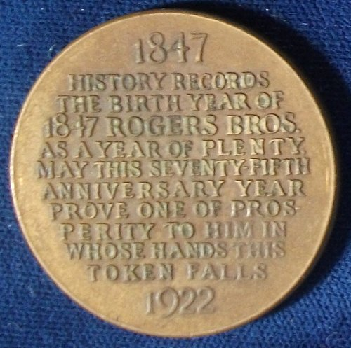 1922 Rogers Bros. 75th Anniversary HK-737 So-Called Dollar