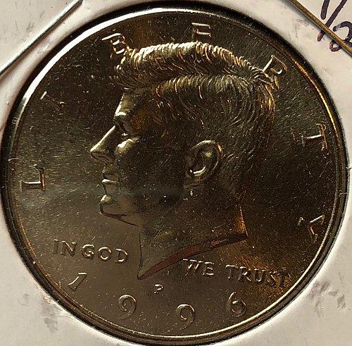 1996 P Kennedy Half Dollars