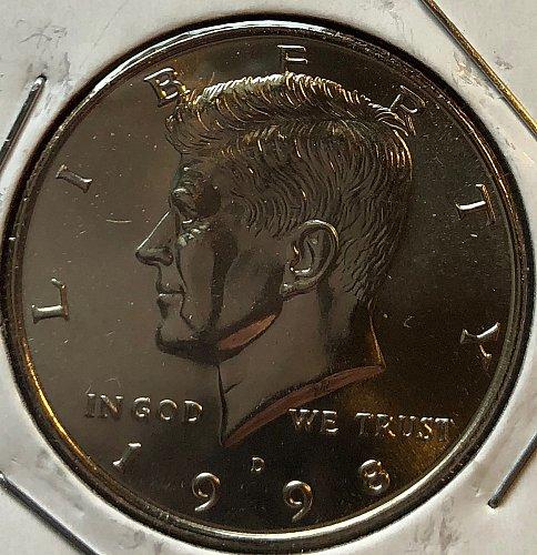 1998 D Kennedy Half Dollars