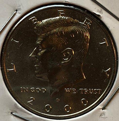 2000 D Kennedy Half Dollars