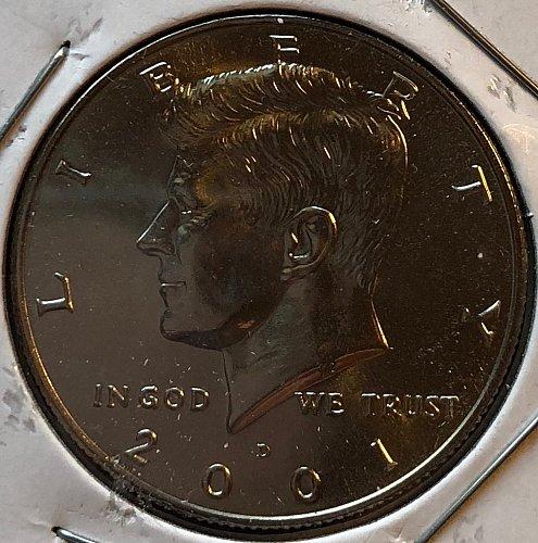 2001 D Kennedy Half Dollars