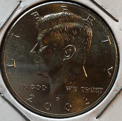2002 D Kennedy Half Dollars