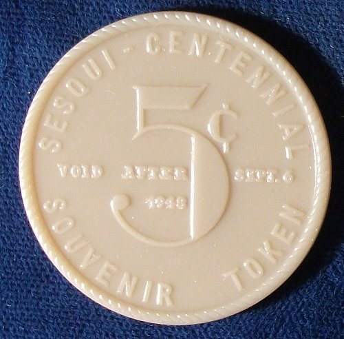 1948 Guersey County, Ohio Sesquicentennial Good For 5 Cents