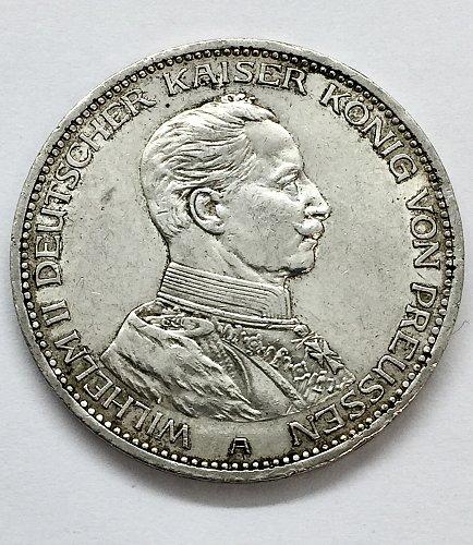 1914 A 3 Mark - Prussia - Silver