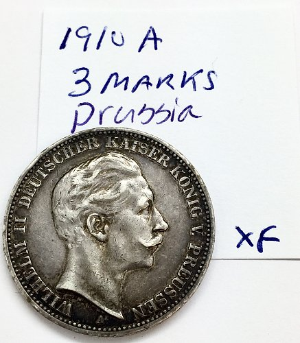 1910 A 3 Marks - Prussia