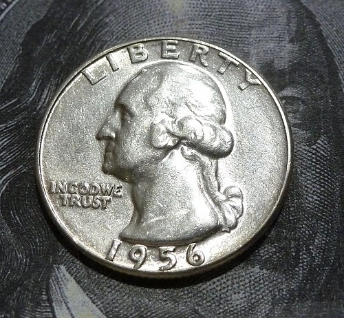 1956 P BU Washington Quarter GEM BU # 18976