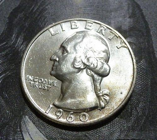 1960 D BU Washington Quarter GEM BU # 18972