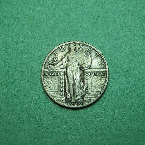 1929 P Standing Liberty Quarter Very Fine Coin   o76