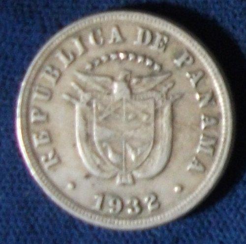 1932 Panama 5 Centesimos VF