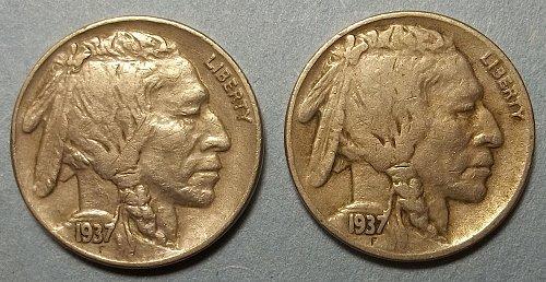 2 Buffalo Nickels LOT BNTa