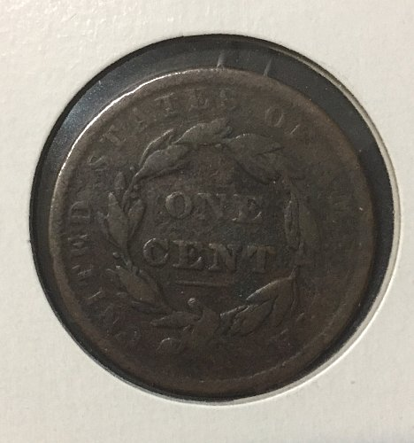 1837 Large Cent Head of 38
