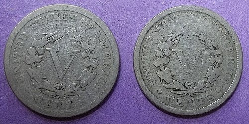 2 Liberty V Nickels  Lot JNLvtt