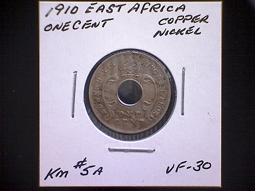1910 EAST AFRICA ONE CENT