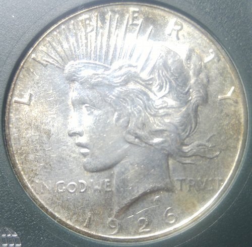 SPECIAL 1926-S PEACE DOLLAR IN SLAB -