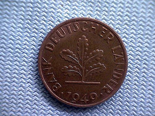1949 J GERMANY ONE PFENNIG