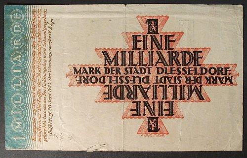 1923 Dusseldorf, Germany Million Mark VG