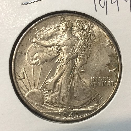 Brilliant XF/AU 1944 Walking Liberty Half Dollar