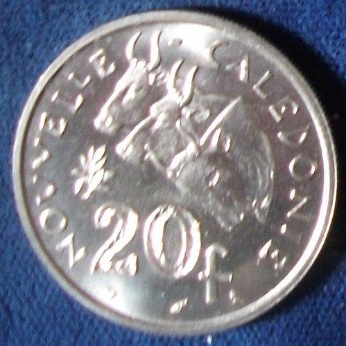 1967 New Caledonia 20 Francs BU
