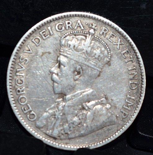 1917 C Newfoundland Canada 25 Cents - KM# 17 (92.5% Silver)
