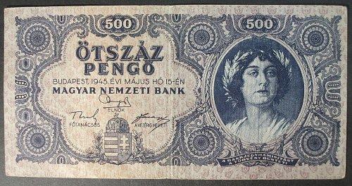 Hungary P117a 500 Pengo VF